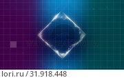 Купить «Digital cube geometric shape», видеоролик № 31918448, снято 5 марта 2019 г. (c) Wavebreak Media / Фотобанк Лори