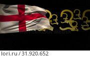 Купить «English flag with pound currency symbols», видеоролик № 31920652, снято 5 марта 2019 г. (c) Wavebreak Media / Фотобанк Лори