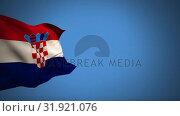Купить «Croatian flag», видеоролик № 31921076, снято 5 марта 2019 г. (c) Wavebreak Media / Фотобанк Лори