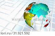 Купить «Multicolored revolving globe», видеоролик № 31921592, снято 5 марта 2019 г. (c) Wavebreak Media / Фотобанк Лори