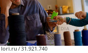 Купить «Father and son holding a thread roll at home 4k», видеоролик № 31921740, снято 28 мая 2018 г. (c) Wavebreak Media / Фотобанк Лори
