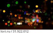 Купить «Cityscape surrounded by colorful bokeh effect», видеоролик № 31922012, снято 5 марта 2019 г. (c) Wavebreak Media / Фотобанк Лори