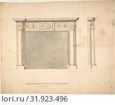 Купить «Designs for a Chimney-piece for Richard Barwell's Drawing Room at Esher, Surrey, ca. 1760s, Pen, ink and wash, sheet: 10 1/16 x 12 in. (25.5 x 30.5 cm...», фото № 31923496, снято 26 апреля 2017 г. (c) age Fotostock / Фотобанк Лори