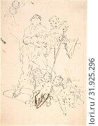 Купить «Saint Anthony and the Christ Child Surrounded by Cherubs, 18th century, Pen and black ink, sheet: 6 3/16 x 4 1/4 in. (15.7 x 10.8 cm), Drawings, Martin...», фото № 31925296, снято 22 апреля 2017 г. (c) age Fotostock / Фотобанк Лори