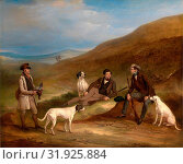 Edward Horner Reynard and his Brother George Grouse-Shooting At Middlesmoor, Yorkshire, with Their Gamekeeper Tully Lamb Edward Horner Reynard and his... (2014 год). Редакционное фото, фотограф Artokoloro / age Fotostock / Фотобанк Лори