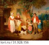 Evening Signed and dated: 'F Wheatley | 1799', Francis Wheatley, 1747-1801, British (2014 год). Редакционное фото, фотограф Artokoloro / age Fotostock / Фотобанк Лори