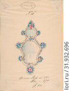 Купить «One of Twenty-Three Sheets of Drawings of Glassware (Mirrors, Chandeliers, Goblets, etc.), 1850–80, Tissue, with pencil, pen and ink, and watercolor...», фото № 31932696, снято 22 мая 2017 г. (c) age Fotostock / Фотобанк Лори