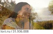 Купить «Hispanic woman holding her chin», видеоролик № 31936008, снято 5 апреля 2019 г. (c) Wavebreak Media / Фотобанк Лори
