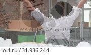 Купить «Man stretching at an office 4k», видеоролик № 31936244, снято 17 апреля 2019 г. (c) Wavebreak Media / Фотобанк Лори