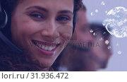 Купить «Call centre agent smiling», видеоролик № 31936472, снято 5 апреля 2019 г. (c) Wavebreak Media / Фотобанк Лори