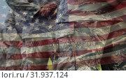 Купить «American soldiers on parade rest», видеоролик № 31937124, снято 18 апреля 2019 г. (c) Wavebreak Media / Фотобанк Лори