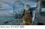 Купить «Fisherman checking the weather», видеоролик № 31937480, снято 18 апреля 2019 г. (c) Wavebreak Media / Фотобанк Лори