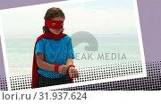 Купить «Kid playing superhero», видеоролик № 31937624, снято 25 апреля 2019 г. (c) Wavebreak Media / Фотобанк Лори