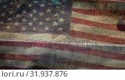 Купить «American soldier rope crossing», видеоролик № 31937876, снято 18 апреля 2019 г. (c) Wavebreak Media / Фотобанк Лори