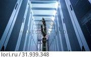 Купить «Robot hand in a hallway», видеоролик № 31939348, снято 24 мая 2019 г. (c) Wavebreak Media / Фотобанк Лори