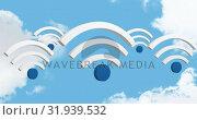 Купить «Wifi symbols 4k», видеоролик № 31939532, снято 8 мая 2019 г. (c) Wavebreak Media / Фотобанк Лори