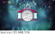 Купить «4th of July text in banner with confetti», видеоролик № 31948116, снято 24 мая 2019 г. (c) Wavebreak Media / Фотобанк Лори