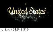 Купить «United States text 4k», видеоролик № 31949516, снято 24 мая 2019 г. (c) Wavebreak Media / Фотобанк Лори