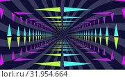Neon lit moving tunnel. Стоковое видео, агентство Wavebreak Media / Фотобанк Лори