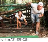 Купить «Emotional competition to overcome obstacle course in an amusement park», фото № 31958028, снято 3 июня 2020 г. (c) Яков Филимонов / Фотобанк Лори
