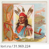 Купить «Rushing Bear, Pawnee, from the American Indian Chiefs series (N36) for Allen & Ginter Cigarettes, 1888, Commercial color lithograph, Sheet: 2 7/8 x 3 1...», фото № 31969224, снято 27 апреля 2017 г. (c) age Fotostock / Фотобанк Лори