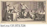 Купить «The Slave Merchant, 1746–47, Etching and engraving, Sheet (trimmed): 2 5/8 × 5 1/4 in. (6.7 × 13.3 cm), Prints, Claude Augustin Duflos le Jeune (French...», фото № 31973724, снято 26 апреля 2017 г. (c) age Fotostock / Фотобанк Лори