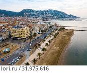 Купить «View from drone of Roses, Costa Brava, Spain», фото № 31975616, снято 2 февраля 2019 г. (c) Яков Филимонов / Фотобанк Лори
