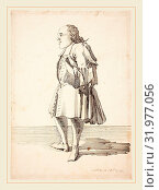 Pier Leone Ghezzi, Italian (1674-1755), Caricature of a Male Figure, pen and iron gall ink over graphite on laid paper (2014 год). Редакционное фото, фотограф Artokoloro / age Fotostock / Фотобанк Лори