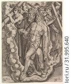 Купить «The Trinity, Engraving, Sheet: 14 3/16 x 10 5/8 in. (36 x 27 cm), Prints, Cornelis Bos (Netherlandish, Hertogenbosch ca. 1510?–before 1566 Groningen), After Frans Floris I.», фото № 31995640, снято 27 апреля 2017 г. (c) age Fotostock / Фотобанк Лори