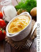 Купить «Картофельная запеканка», фото № 32003120, снято 17 июня 2019 г. (c) Надежда Мишкова / Фотобанк Лори