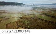 Купить «Aerial landscape of Navarre valleys and hills, North Spain», видеоролик № 32003148, снято 26 декабря 2018 г. (c) Яков Филимонов / Фотобанк Лори