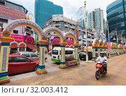 Little India, or Brickfields in Kuala Lumpur, Malaysia (2017 год). Редакционное фото, фотограф Александр Подшивалов / Фотобанк Лори