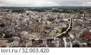 Купить «Aerial panoramic view of Lugo galician city with buildings and landscape», видеоролик № 32003420, снято 19 июня 2019 г. (c) Яков Филимонов / Фотобанк Лори