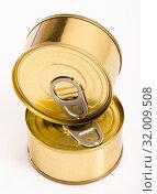 Купить «Unlabeled golden tin can», фото № 32009508, снято 6 июля 2020 г. (c) Яков Филимонов / Фотобанк Лори