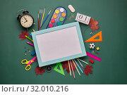 Купить «School background. Back to school.», фото № 32010216, снято 5 августа 2019 г. (c) Мельников Дмитрий / Фотобанк Лори