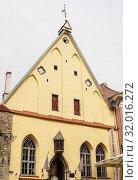 Купить «Museum House Great Guild in the old town,Tallinn, Estonia, Baltic States, Europe», фото № 32016272, снято 11 июля 2019 г. (c) Николай Коржов / Фотобанк Лори