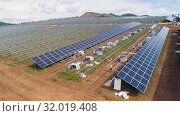 Solar panel energy electricity construction installation built. Стоковое фото, фотограф Mark Agnor / Фотобанк Лори