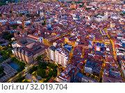 Aerial view of Valladolid at twilight. Spain (2019 год). Стоковое фото, фотограф Яков Филимонов / Фотобанк Лори