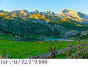 Купить «Highland Lakes of Covadonga summer landscape», фото № 32019848, снято 15 июля 2019 г. (c) Яков Филимонов / Фотобанк Лори