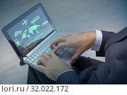Concept of online booking for trip. Стоковое фото, фотограф Elnur / Фотобанк Лори