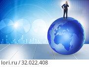 Купить «Businessman on top of the world», фото № 32022408, снято 20 сентября 2019 г. (c) Elnur / Фотобанк Лори