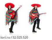 Купить «Pretty mexican girl in vivid pocho isolated on white», фото № 32025520, снято 10 февраля 2015 г. (c) Elnur / Фотобанк Лори
