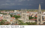 Купить «Cathedral in the city of Burgos, Castilla-Leon, Spain», видеоролик № 32031224, снято 20 июня 2019 г. (c) Яков Филимонов / Фотобанк Лори