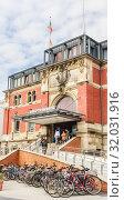 Central Station, state capital of Kiel, Schleswig-Holstein. Germany (2019 год). Редакционное фото, фотограф Николай Коржов / Фотобанк Лори