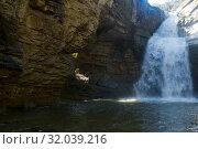 Купить «Waterfall with crystal water in Catalonia», фото № 32039216, снято 26 марта 2017 г. (c) Яков Филимонов / Фотобанк Лори