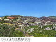 Купить «Monastery of the Holy Trinity, Meteora, Greece», фото № 32039808, снято 8 июня 2019 г. (c) Boris Breytman / Фотобанк Лори