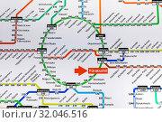 Купить «Japan, Honshu, Tokyo, Yurakacho JR Train Station, English Language Railway System Map», фото № 32046516, снято 6 декабря 2019 г. (c) age Fotostock / Фотобанк Лори