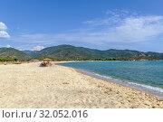 Купить «Kalamitsi beach, Chalkidiki, Greece», фото № 32052016, снято 11 июня 2019 г. (c) Boris Breytman / Фотобанк Лори