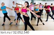 Купить «People dancing at dance class», фото № 32052540, снято 9 октября 2017 г. (c) Яков Филимонов / Фотобанк Лори