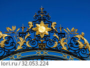 England, London, Regent's Park, Detail of Queen Mary's Rose Garden Gate. Стоковое фото, фотограф Steve Vidler / age Fotostock / Фотобанк Лори